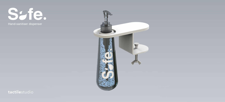 """""""Safe"""", hand sanitiser designed by Tactile Studio"""