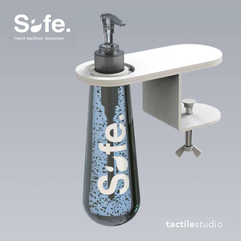 Ré-ouvrez en sérénité et élégance : Safe, distributeur de gel ergonomique adaptable à tous vos supports