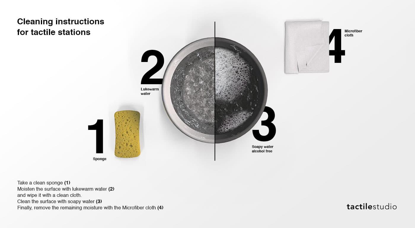 Instructions de nettoyage d'une station tactile