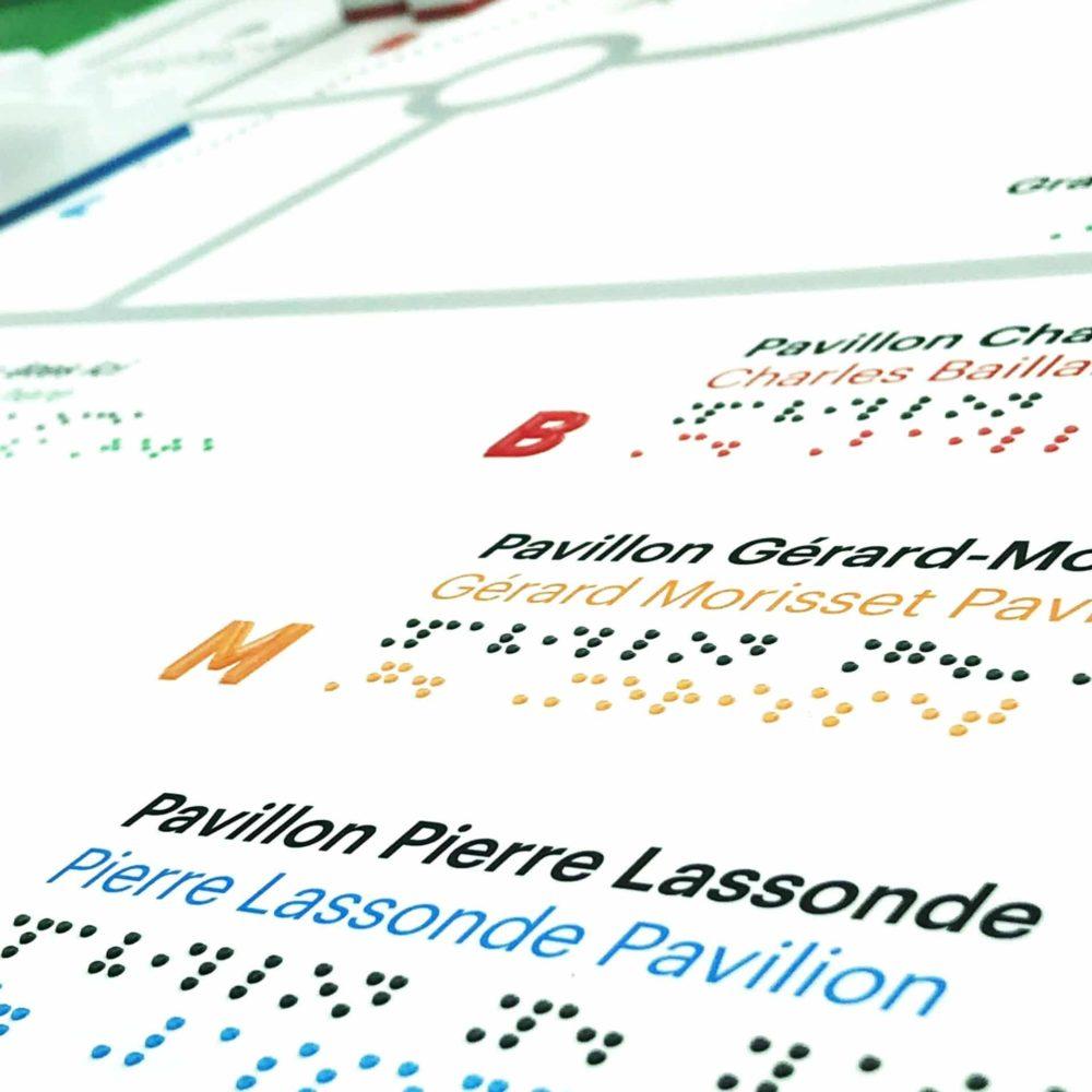 Carte d'orientation tactile au Musée National des Beaux-Arts du Québec - © Héloïse Kermarrec, MNBAQ