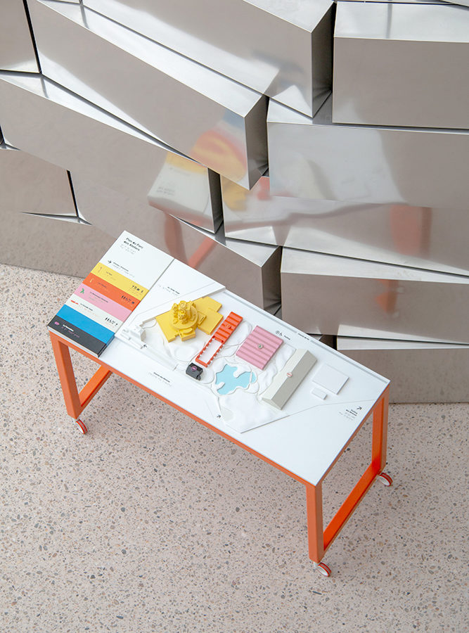 This sensory station is mobile and can be moved around the Luma Tower - © Tactile Studio